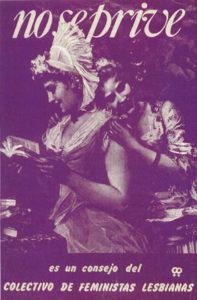 No se prive. Cartel del Colectivo de Feministas Lesbianas, Madrid 1982
