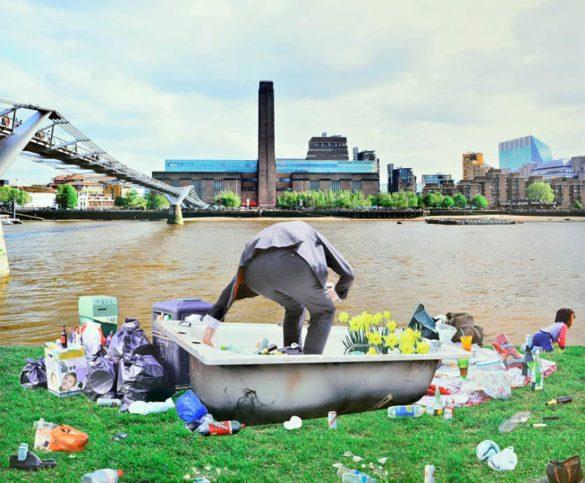 Marta Corada, Picnic Opposite Tate Modern, 2016