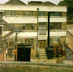Factory in North London ©Lucian Freud. Image from Wikiart