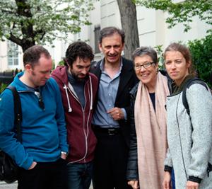 Andy Dickinson, Pablo Turégano, Jorge de Juan, Alicia Sánchez y Maite Jaúregui